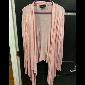 Lane Bryant pink sweater with long front 22/24